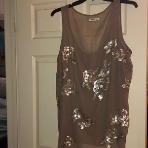 Old Navy silver tank